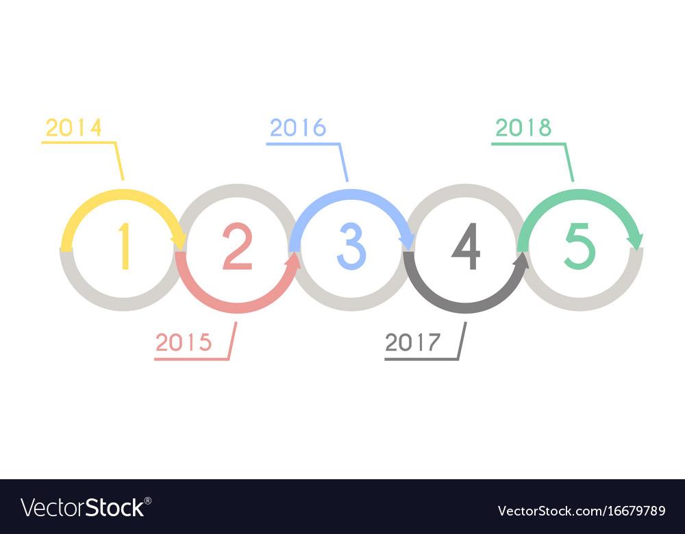 Progress chart statistic concept infographic