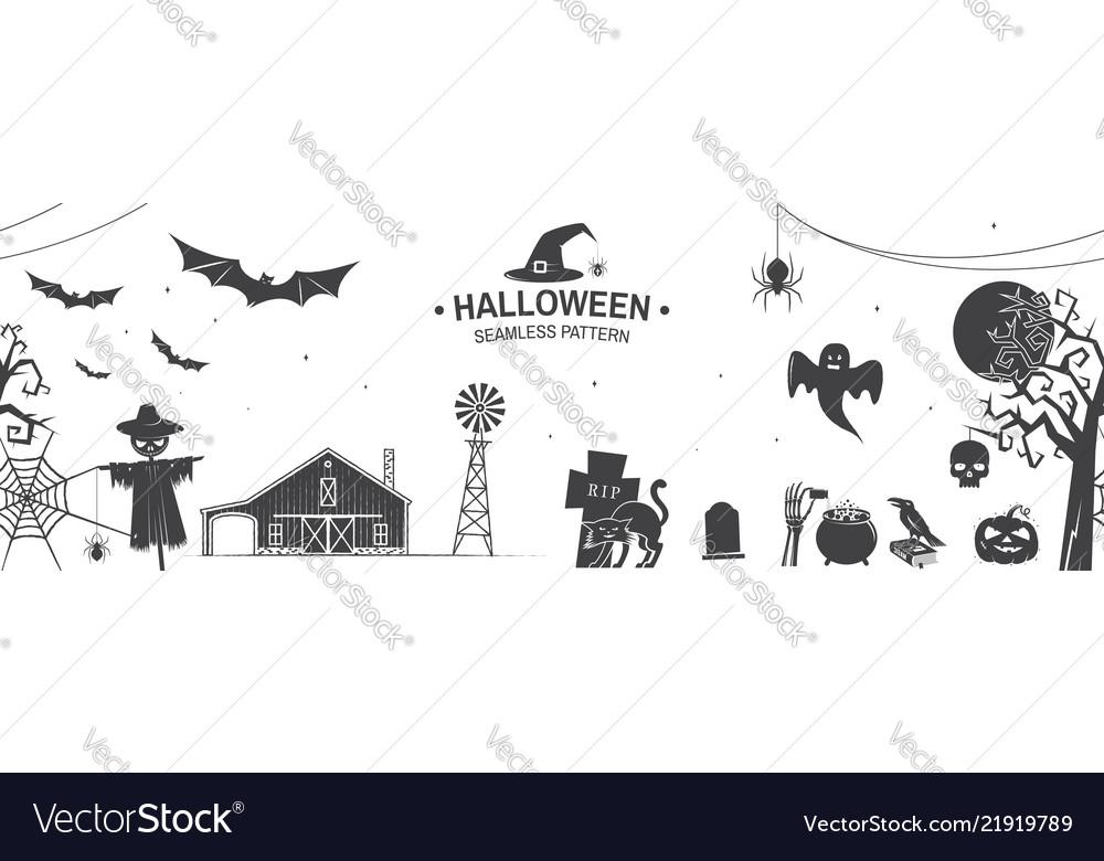 Seamless pattern for halloween celebration