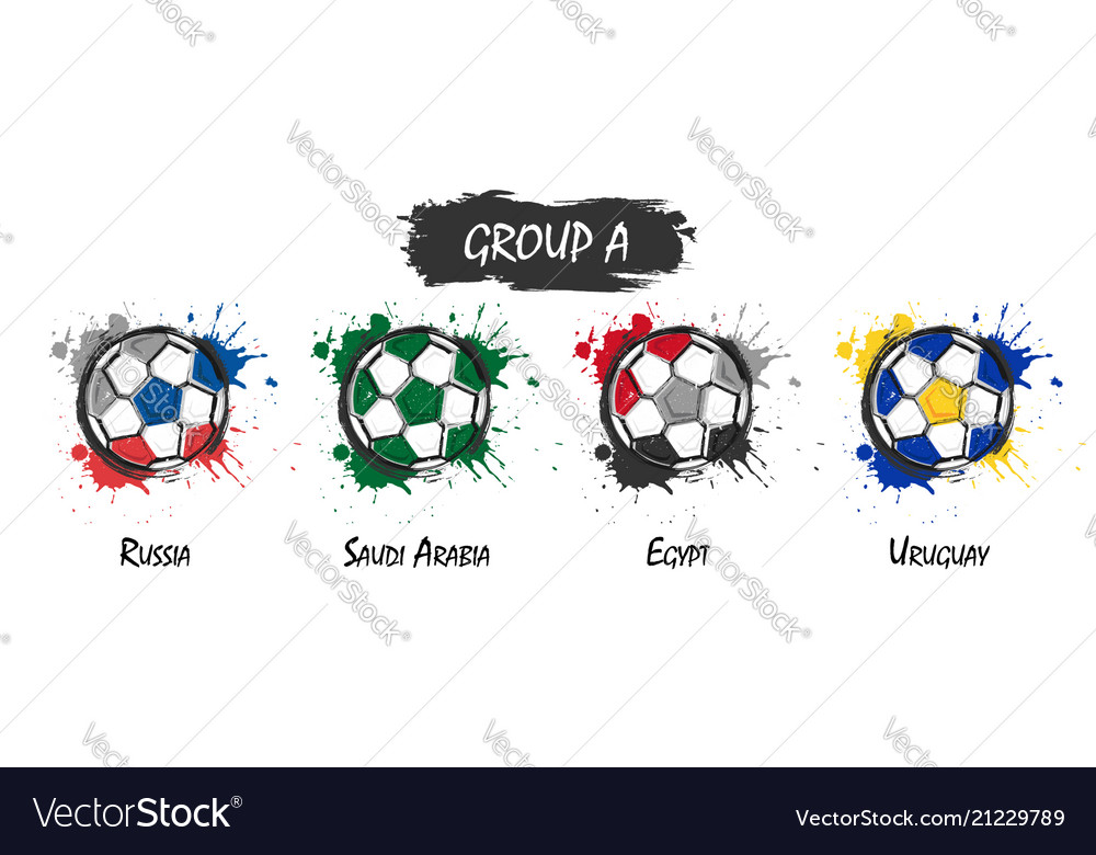 Set of national football team group a