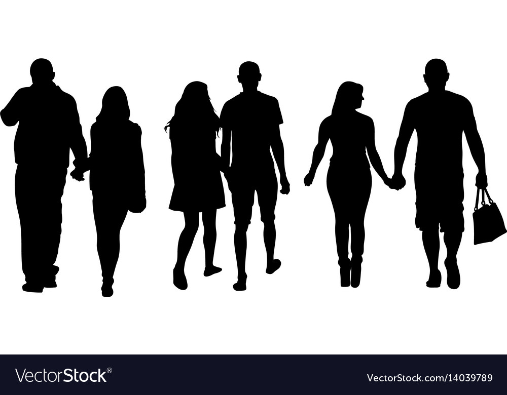 Set of people holding hands