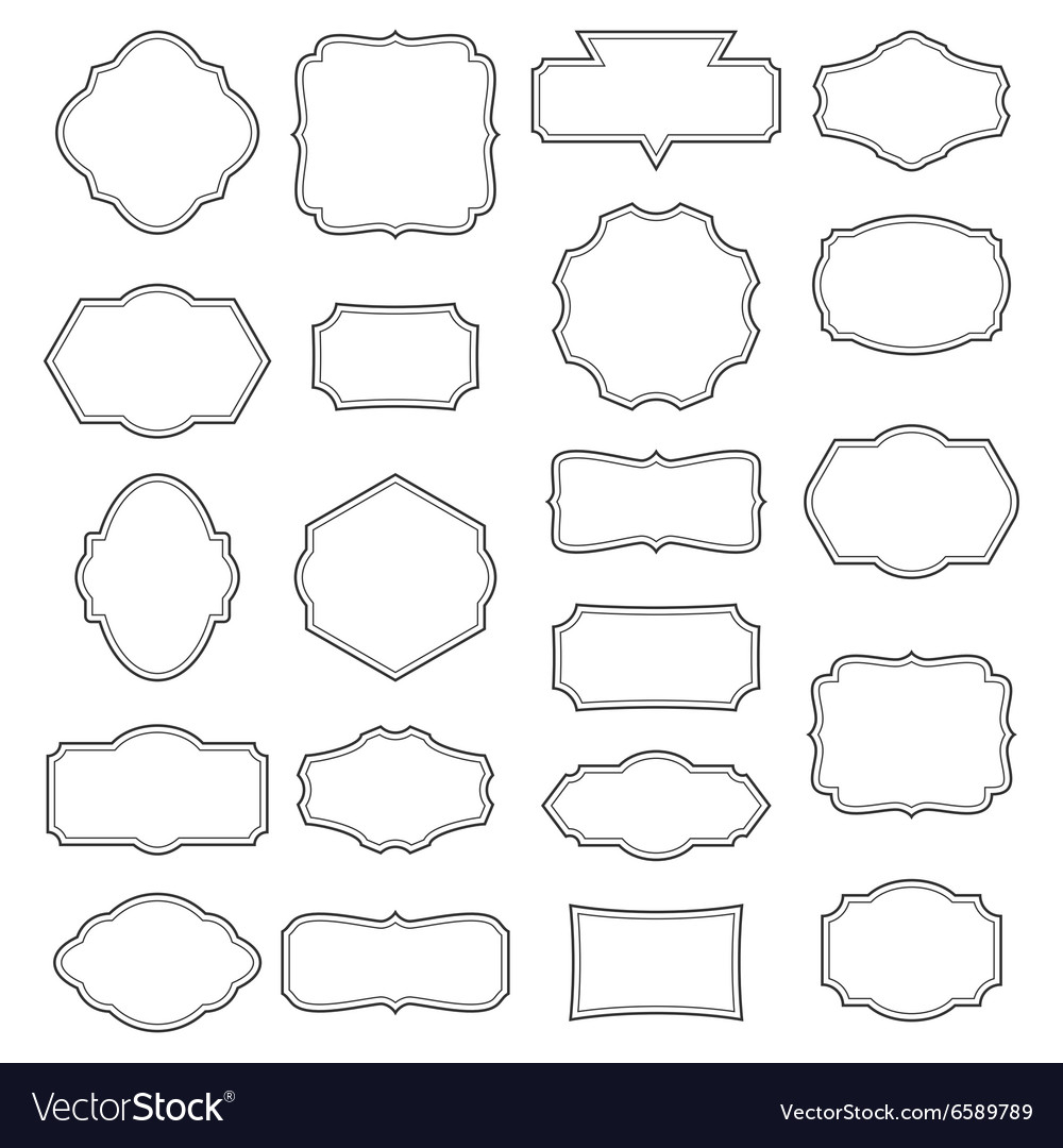 Vintage Frame Set Decorative Label Collection vector image