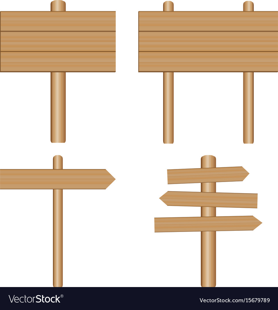 Wooden signs plaque vector image
