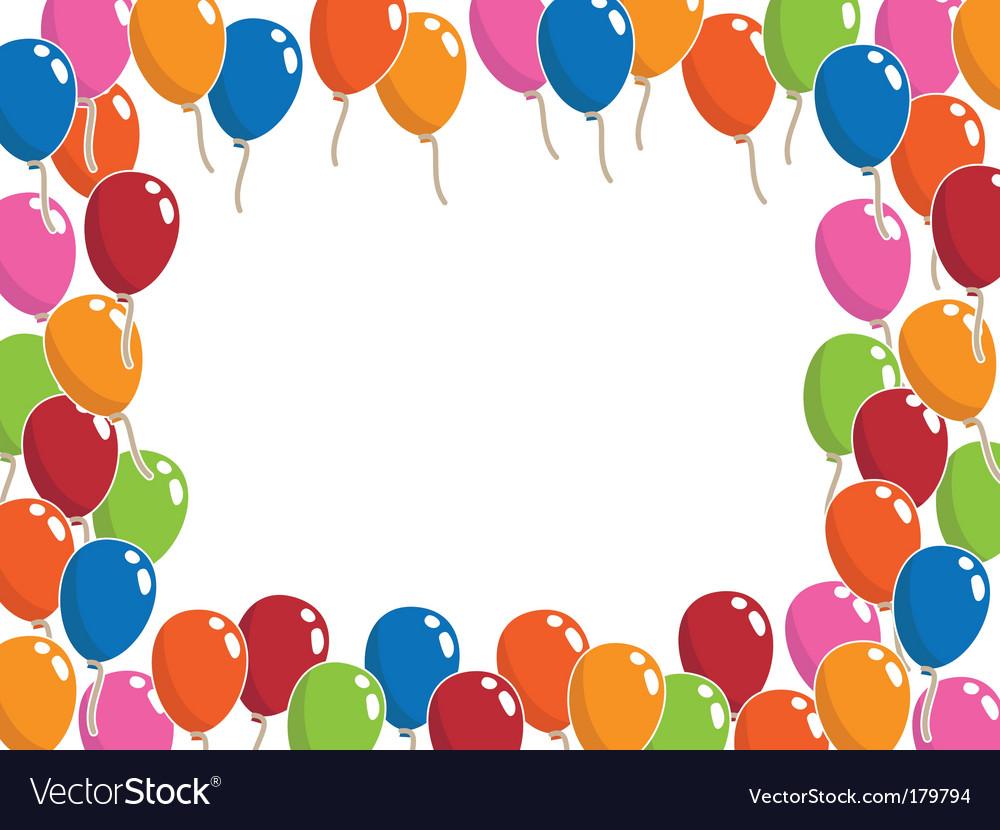Balloon frame vector image