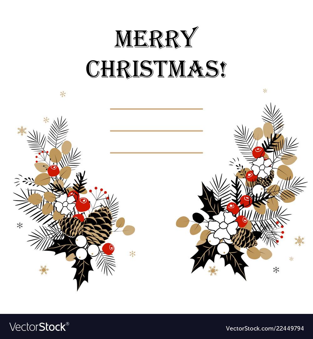 Christmas background frame made fir