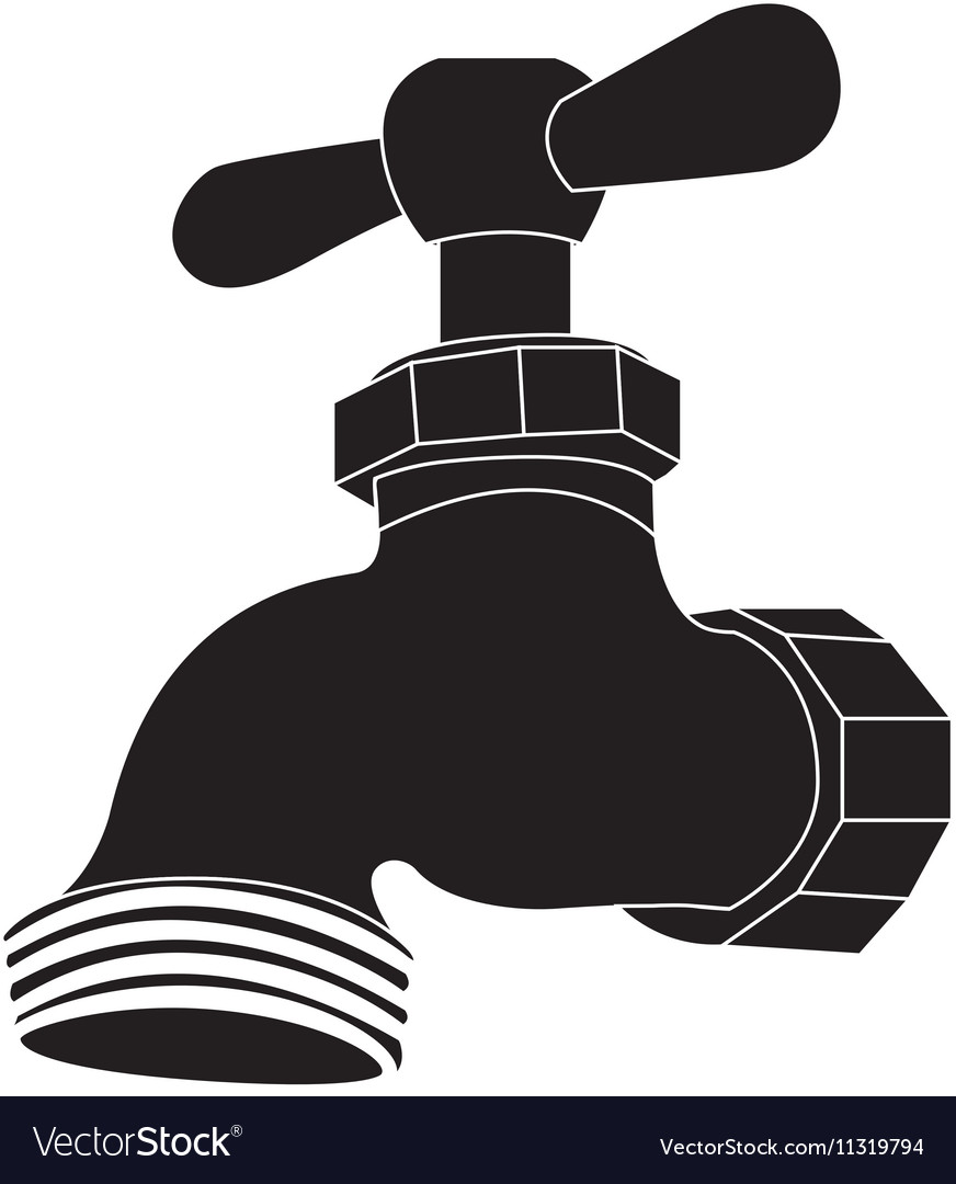 Faucet or tap icon image Royalty Free Vector Image