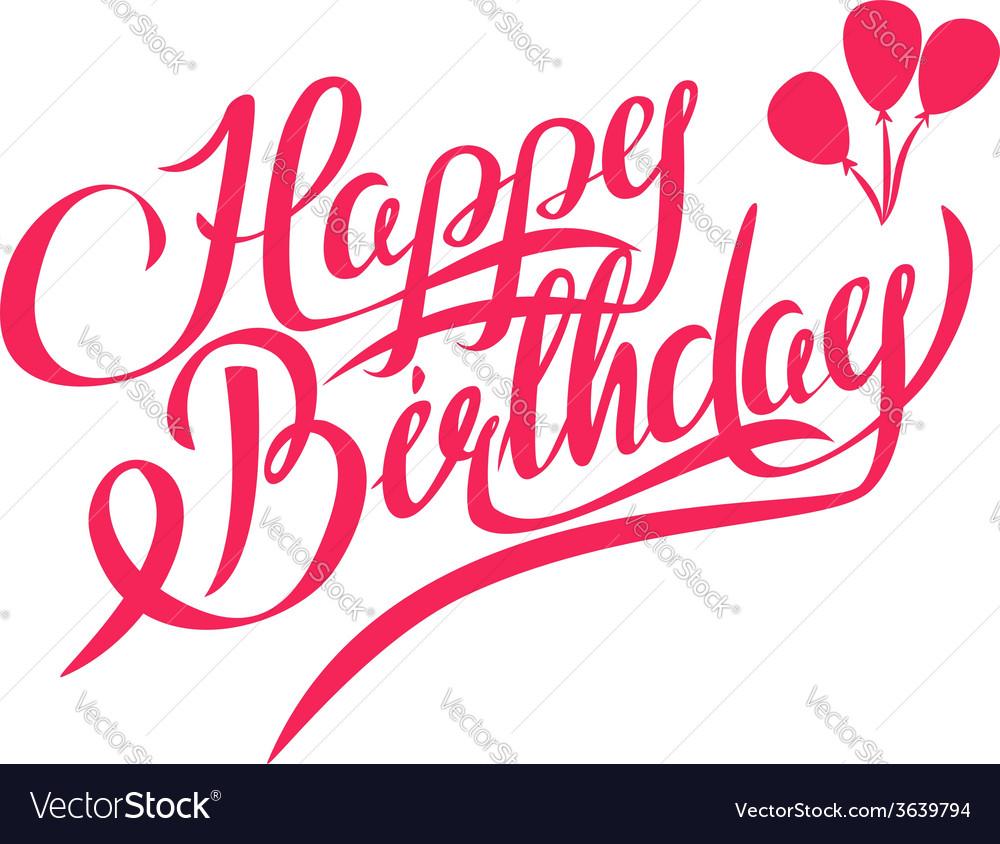 Happy Birthday Lettering - Design Element