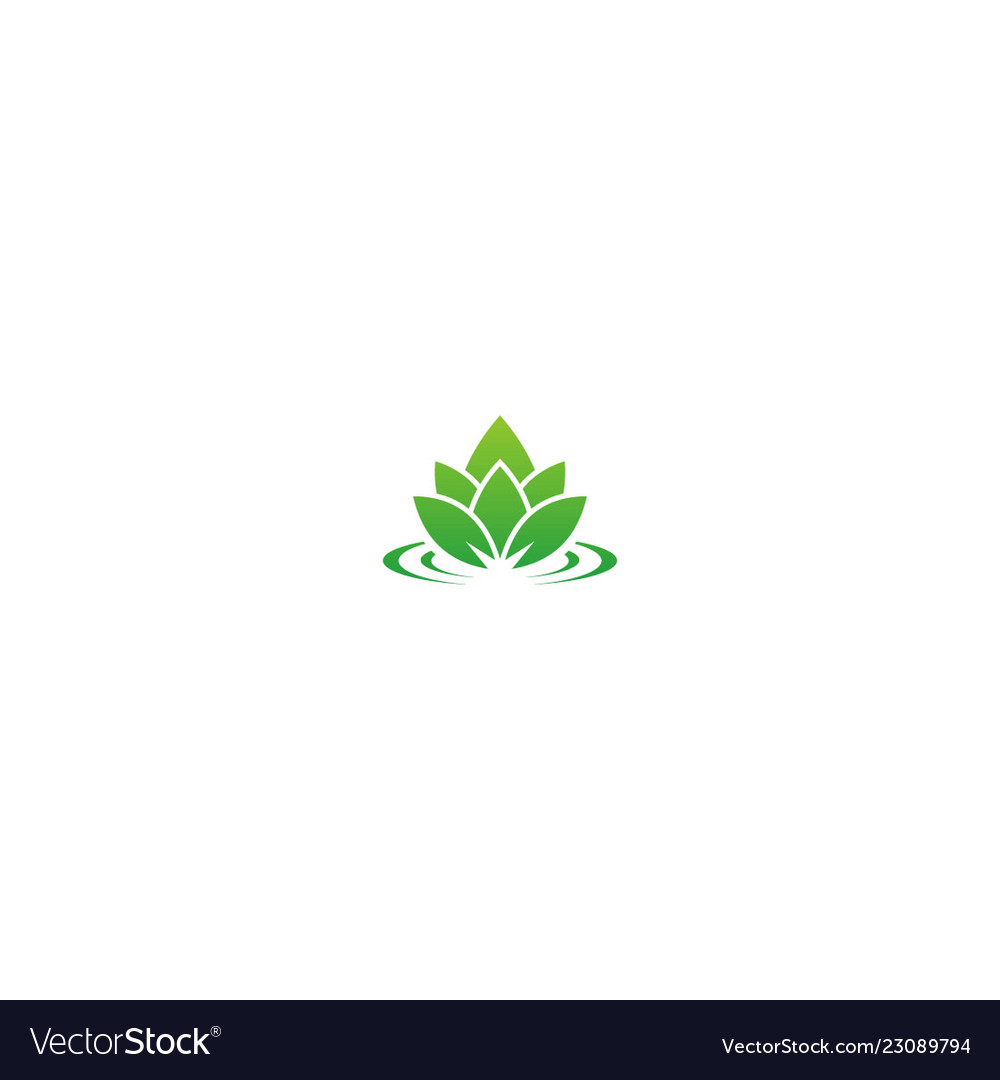 Lotus green leaf nature logo