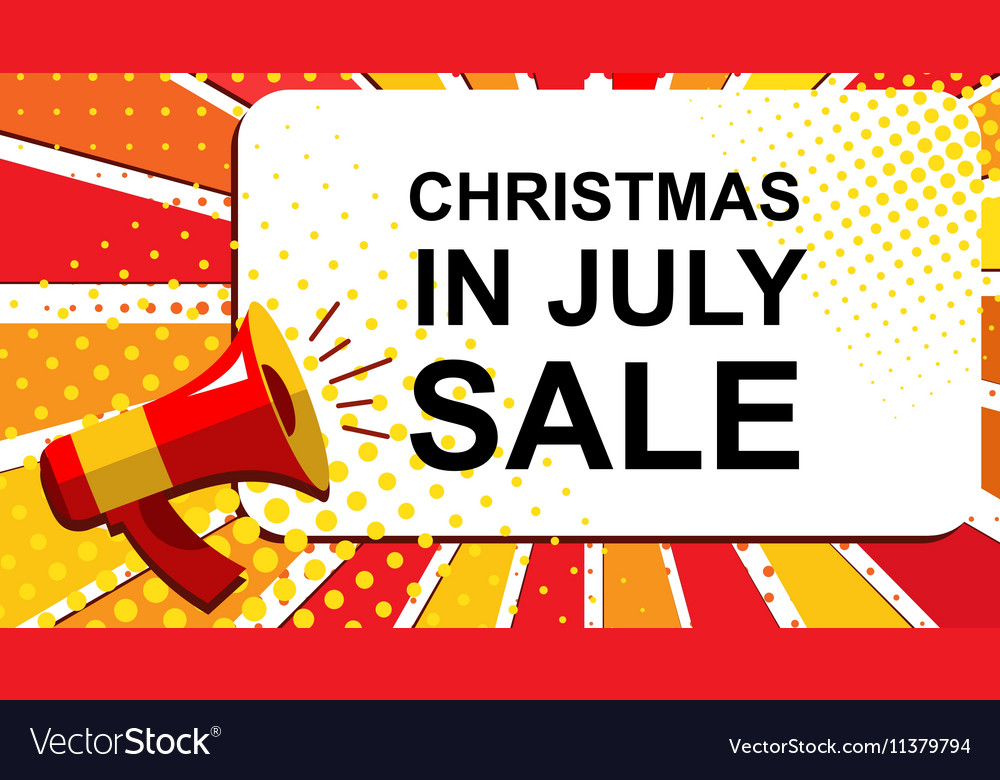 Christmas In July Background Images.Megaphone With Christmas In July Sale Announcement
