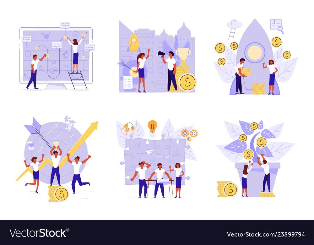 Planning development of ideas concept