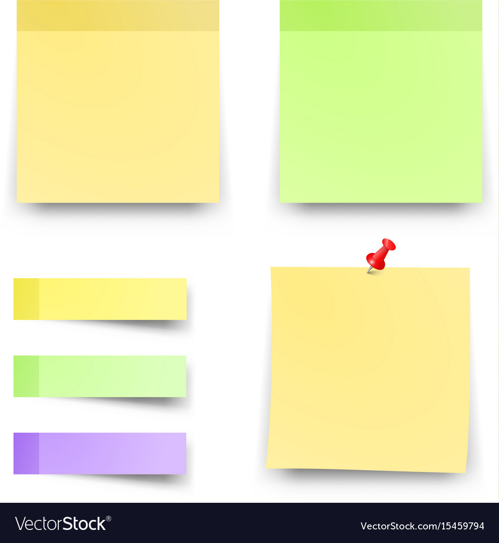 post sticky colored papers office notes royalty free vector rh vectorstock com post sticky note vector post sticky note vector