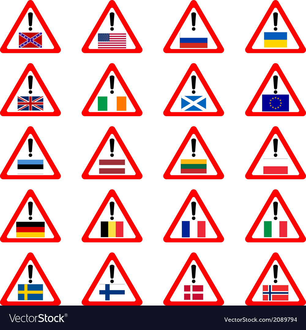 Warning sins for travelers vector image