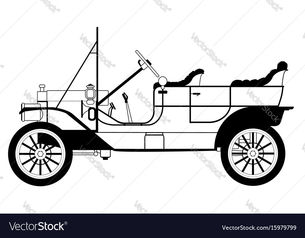 Classic automobile vector image