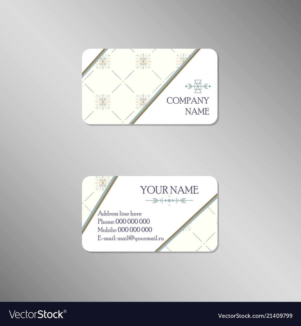 Creative business card with light ornament