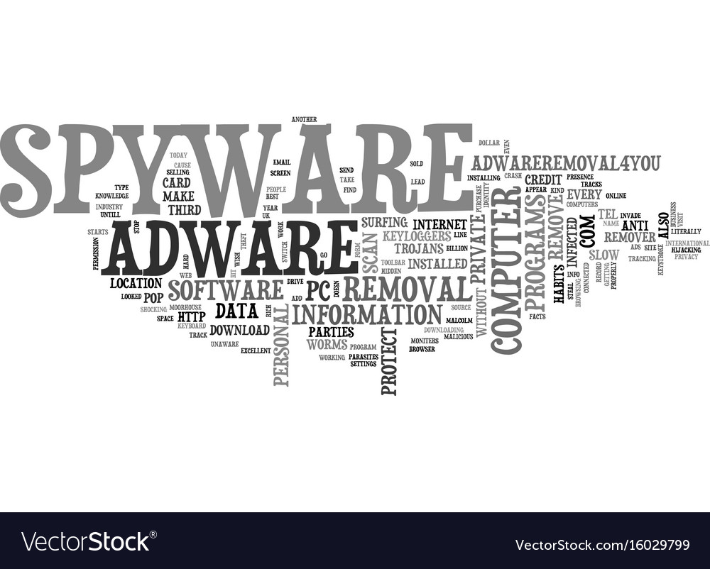 Is there spyware and adware on your computer text