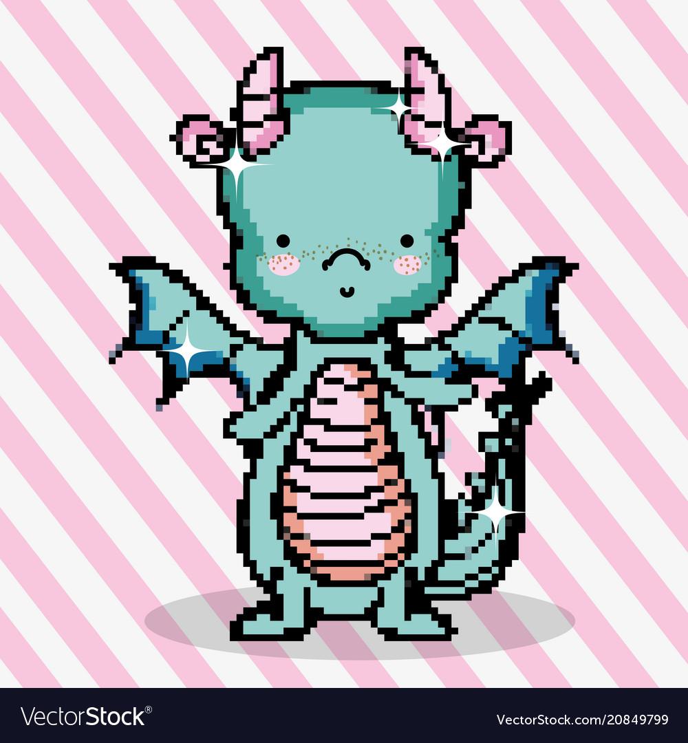 pixel-art-cute-dragon-vector-20849799 Pixel Art Dragon @koolgadgetz.com.info