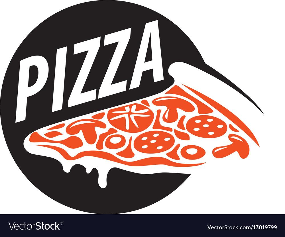 pizza logo vector image rh vectorstock com pizza logo design pizza logo design