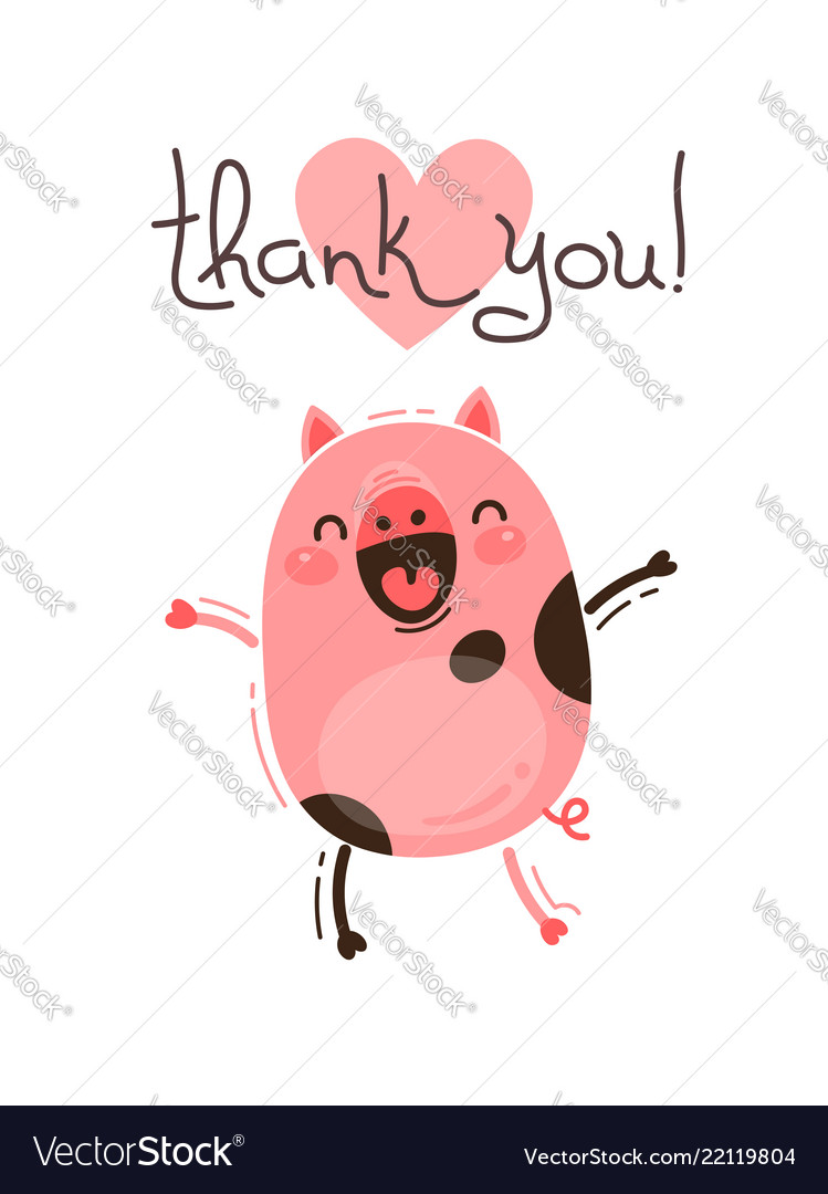 Funny Pig Says Thank You Happy Pink Piglet Vector Image,How To Get Oil Stains Out Of Clothes With Baking Soda
