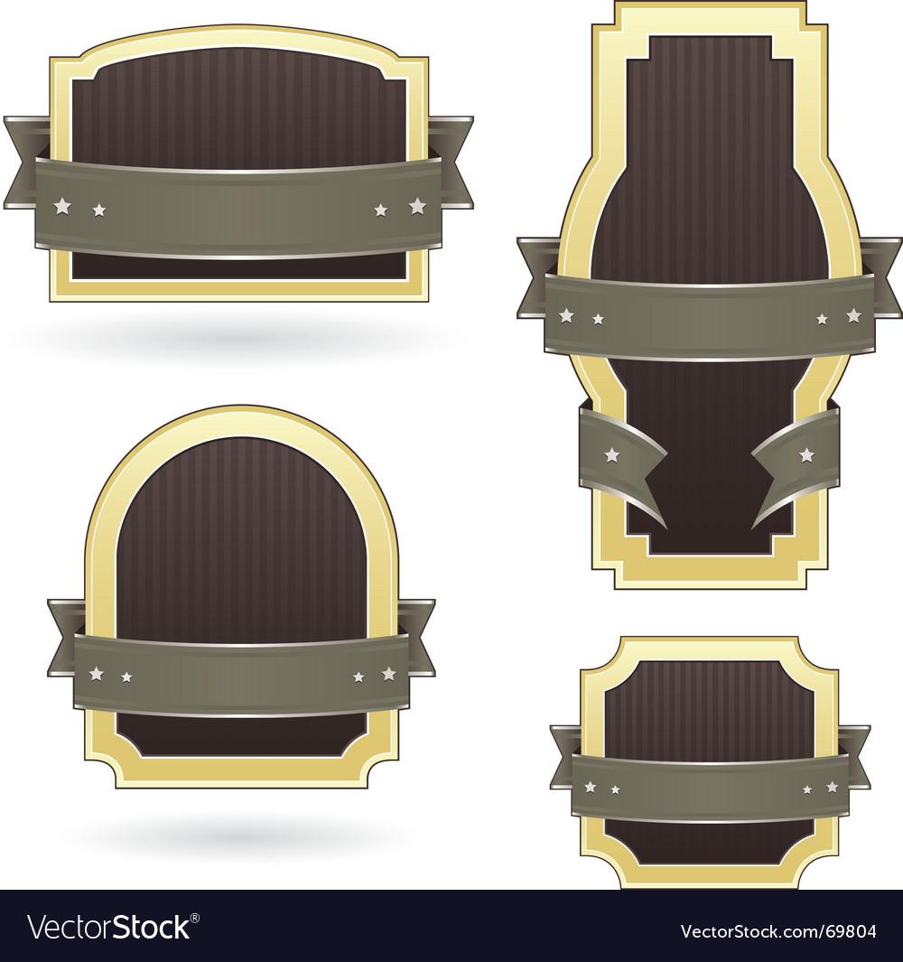 Label set vector image