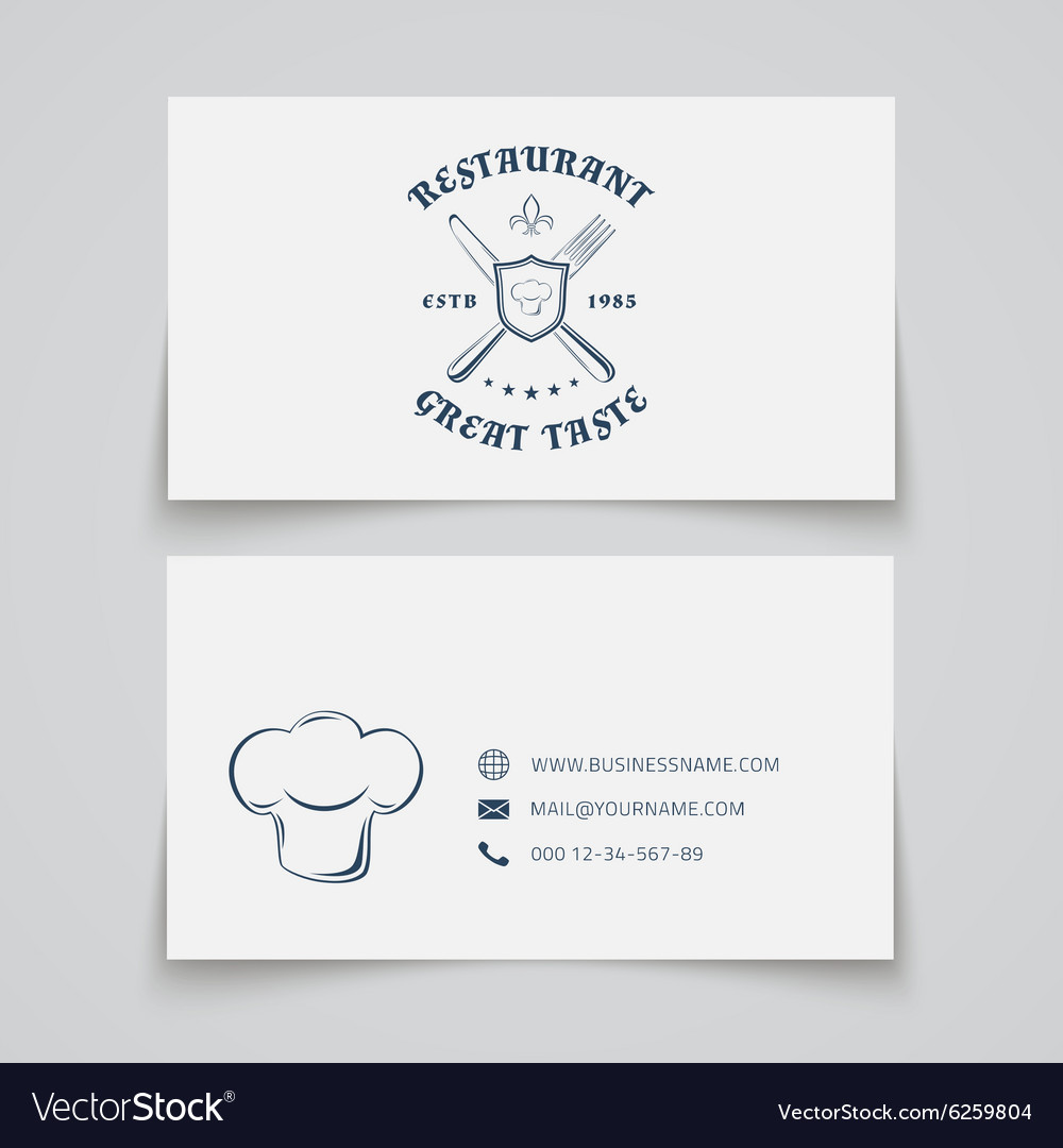 Restaurant business card template royalty free vector image restaurant business card template vector image colourmoves