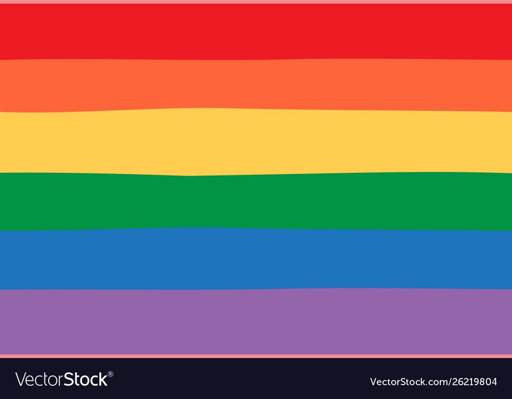 Seamless Lgbt Pride Rainbow Flag Background Vector Image