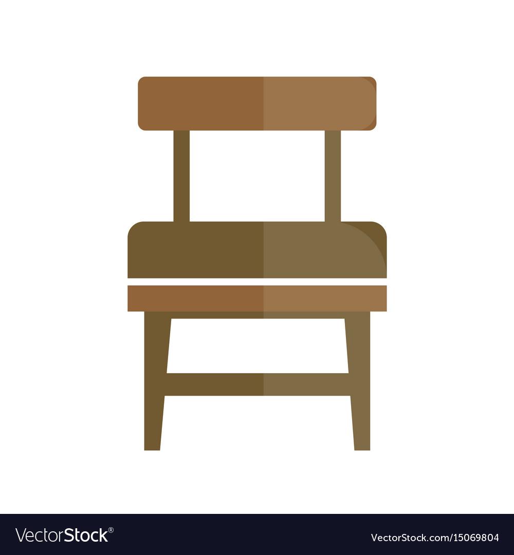 Stylish retro seat with back icon