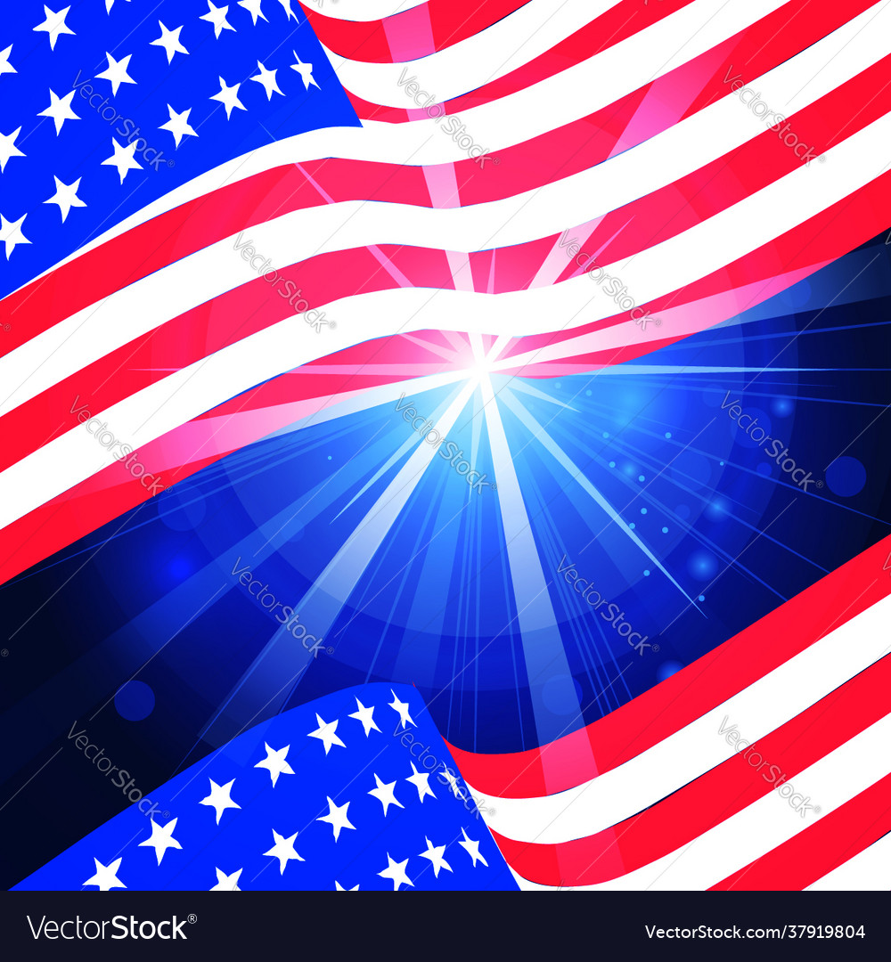Wavy american flag for independence day