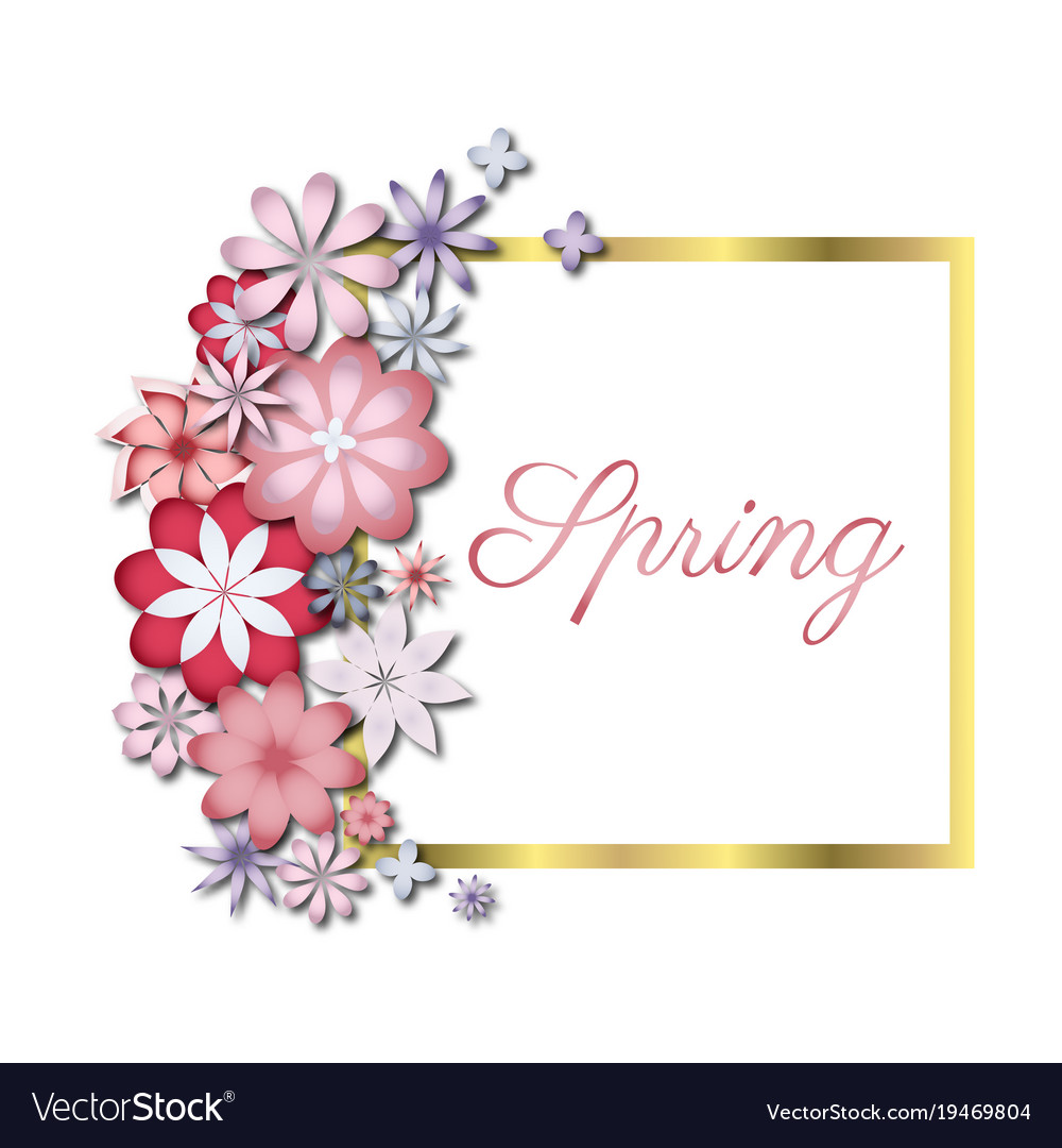 Wedding or birthday invitation spring flower vector image stopboris Choice Image