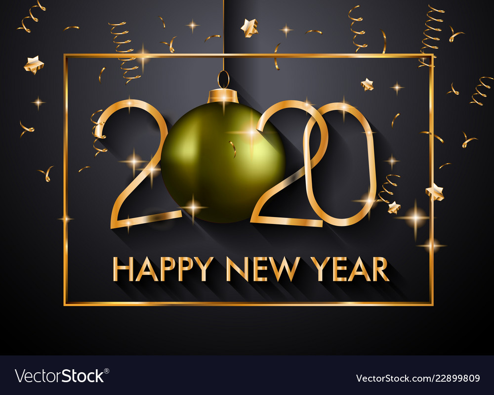 2020 happy new year background for your seasonal vector image 2020 happy new year background for your seasonal vector image