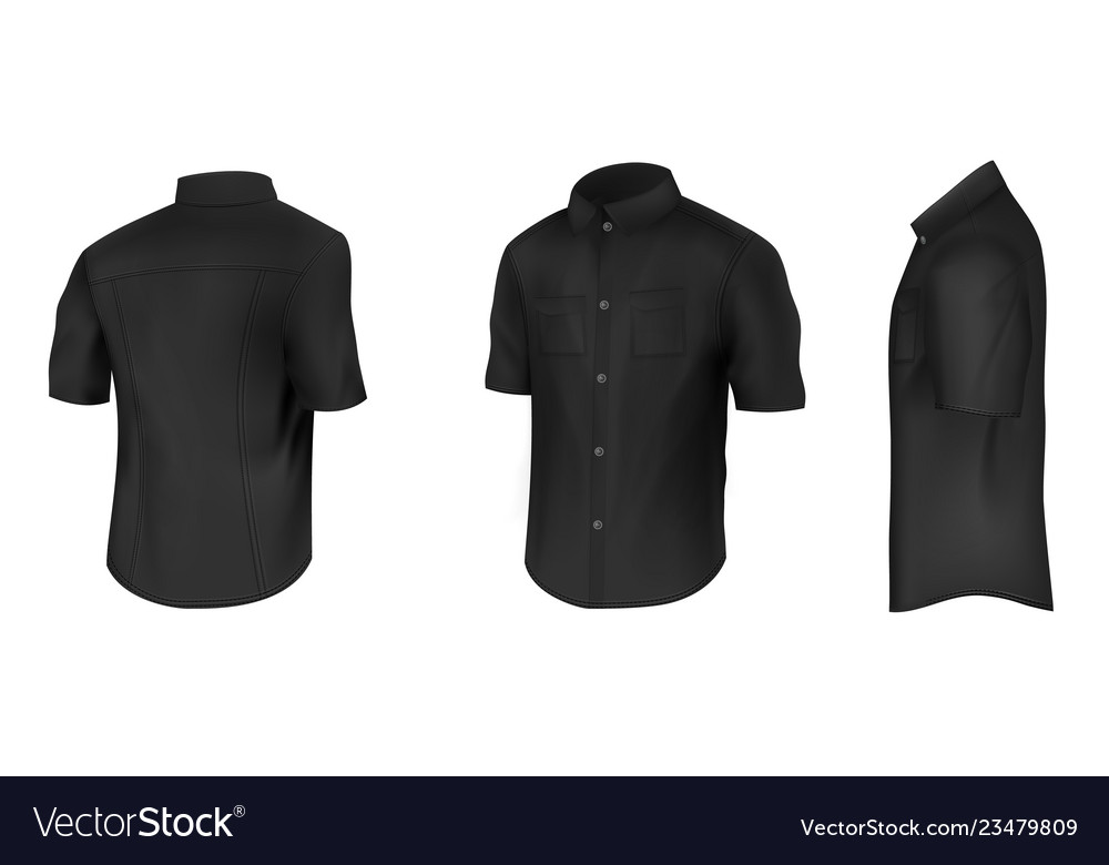 Black shirt with short sleeves mockup