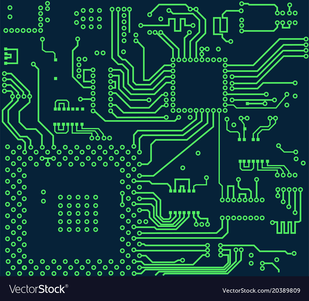 High Tech Electronic Circuit Board Royalty Free Vector Image Electric Diagram