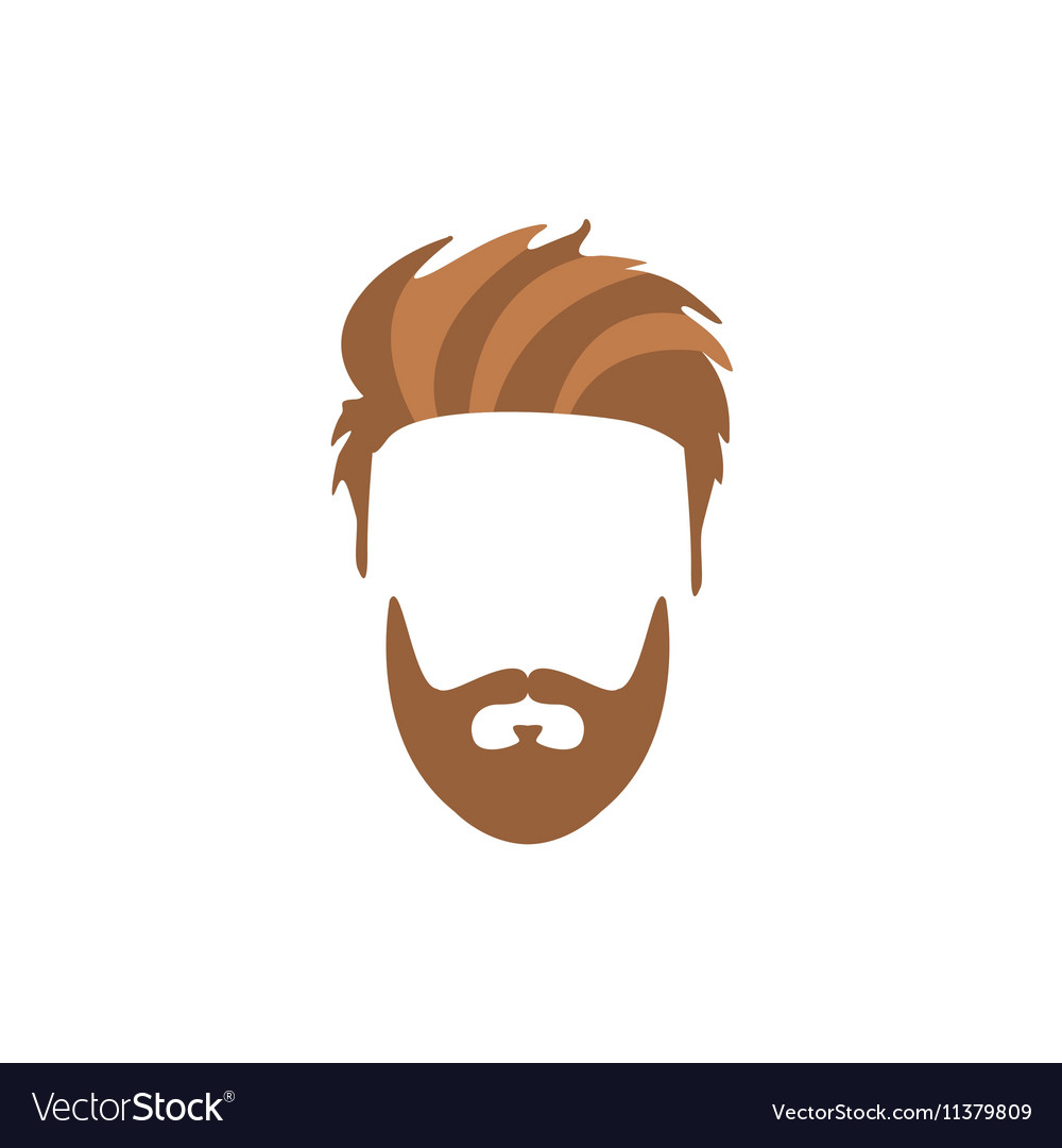 Hipster Male Hair and Facial Style With Staline vector image