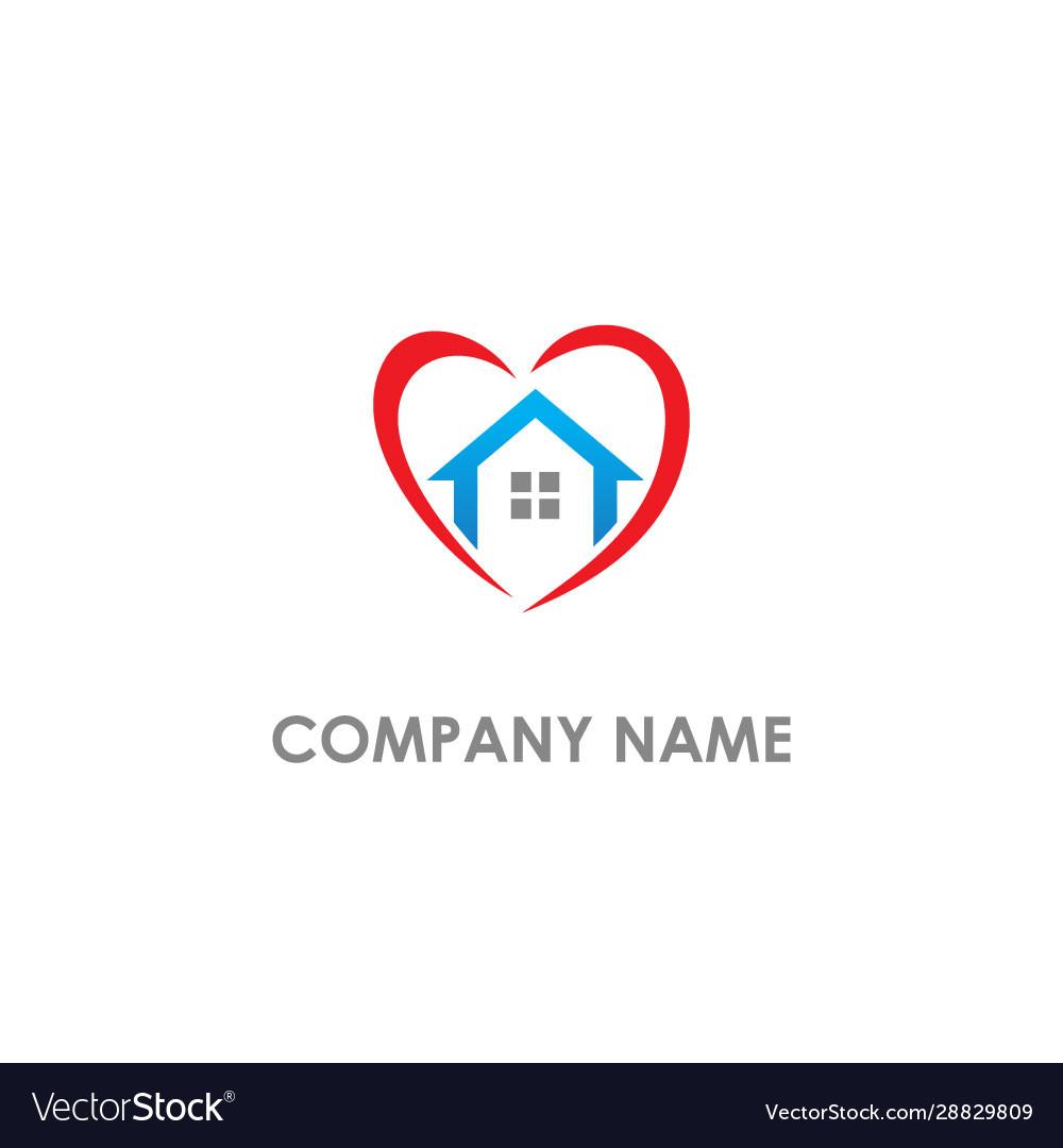 Love home real estate logo