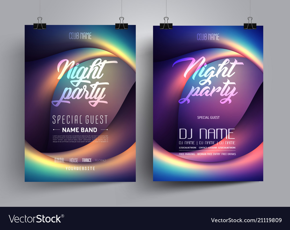 Party flyer or poster layout template vector image