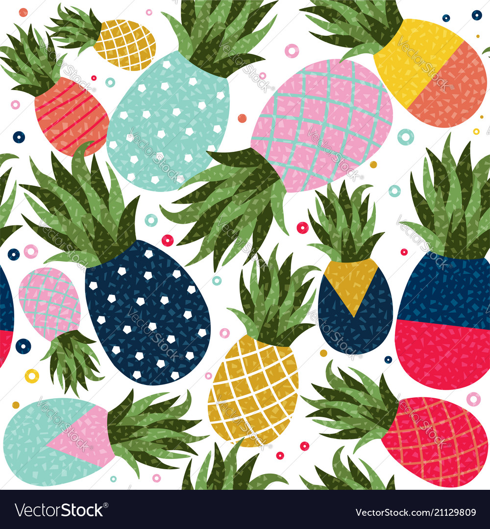 Pineapple fruit color background pattern