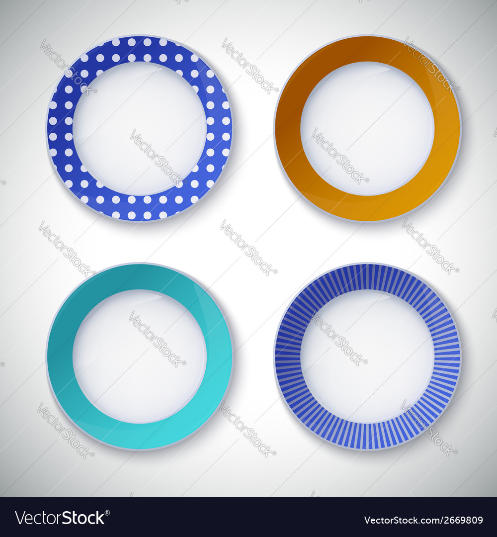 Set of color plates vector image