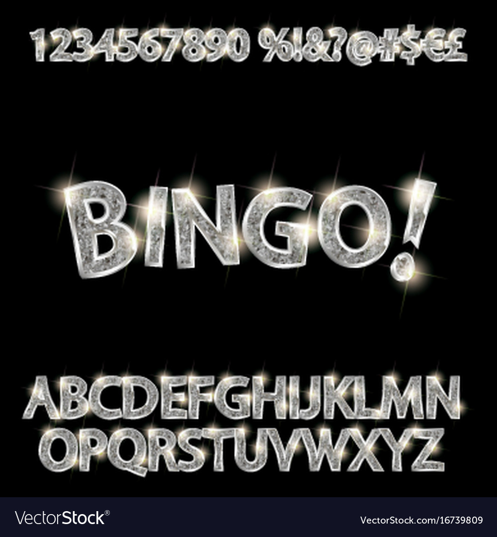 Set of elegant silver alphabet