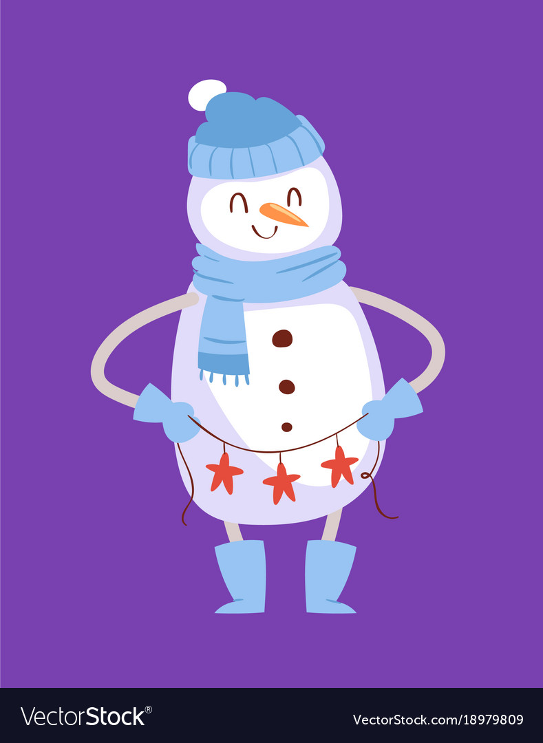 Snowman cute cartoon winter christmas