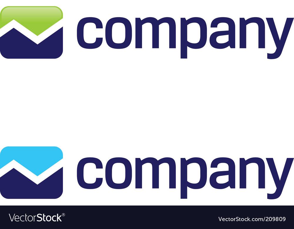 Stock market arrow logo