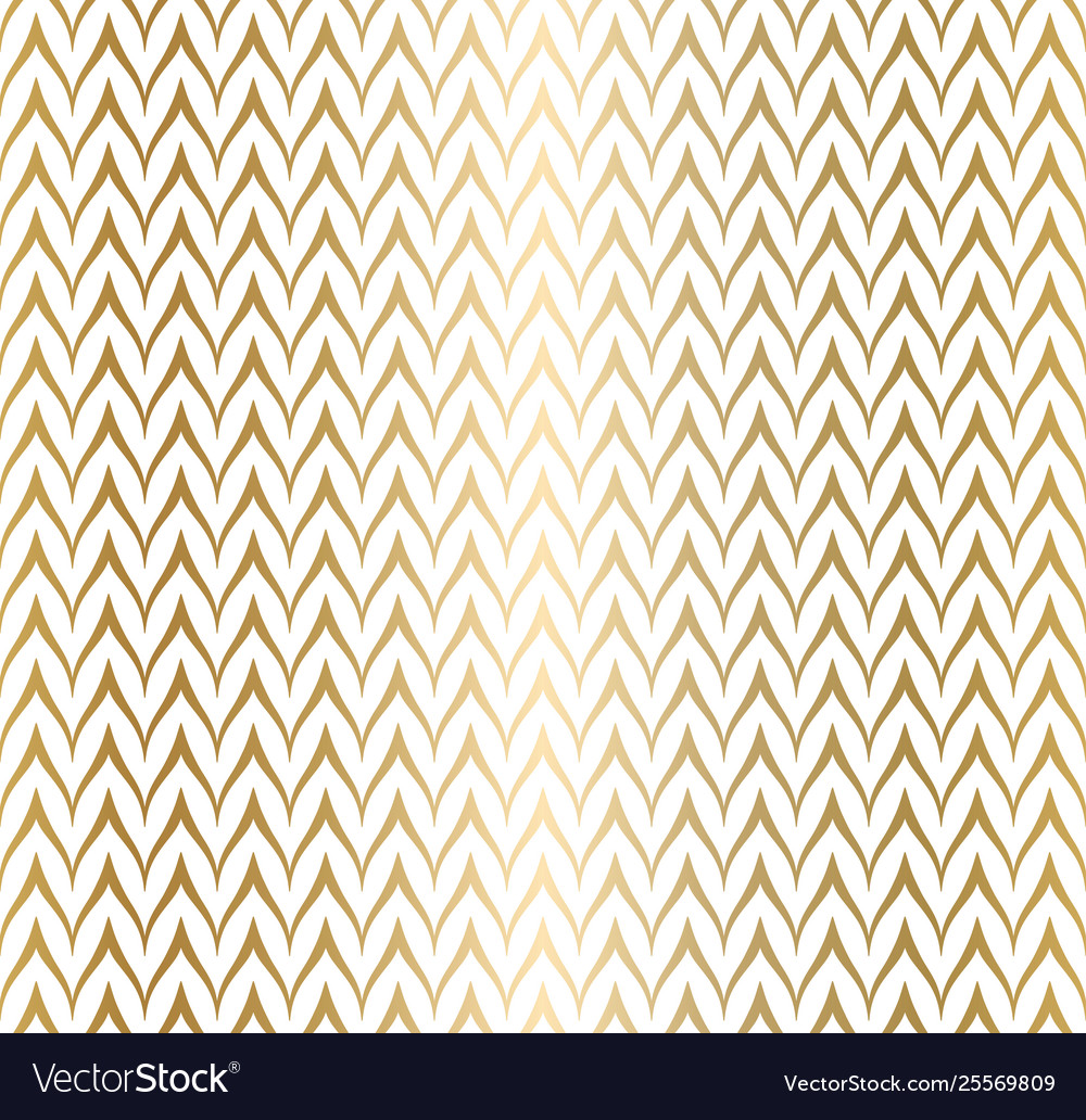 Trendy simple seamless zig zag golden geometric