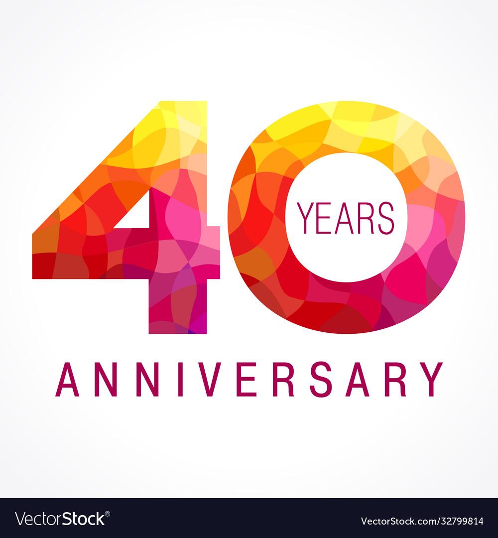 40 anniversary red logo