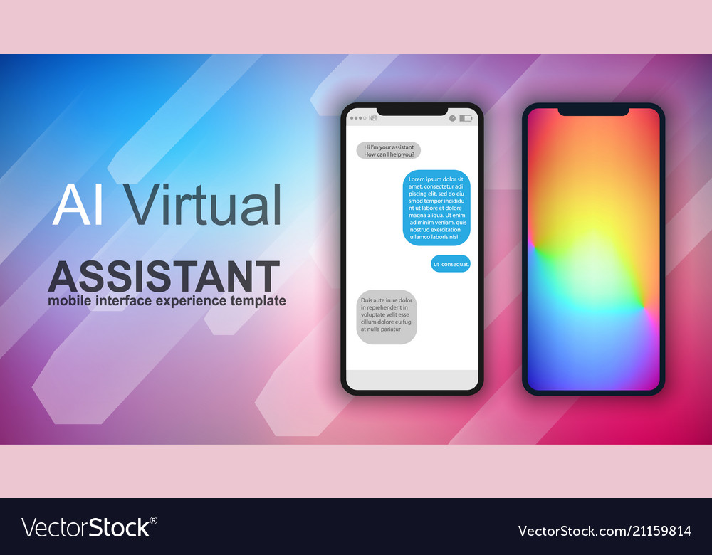 Brochure Layout Mobile Ai Artificial Intelligent Vector Image