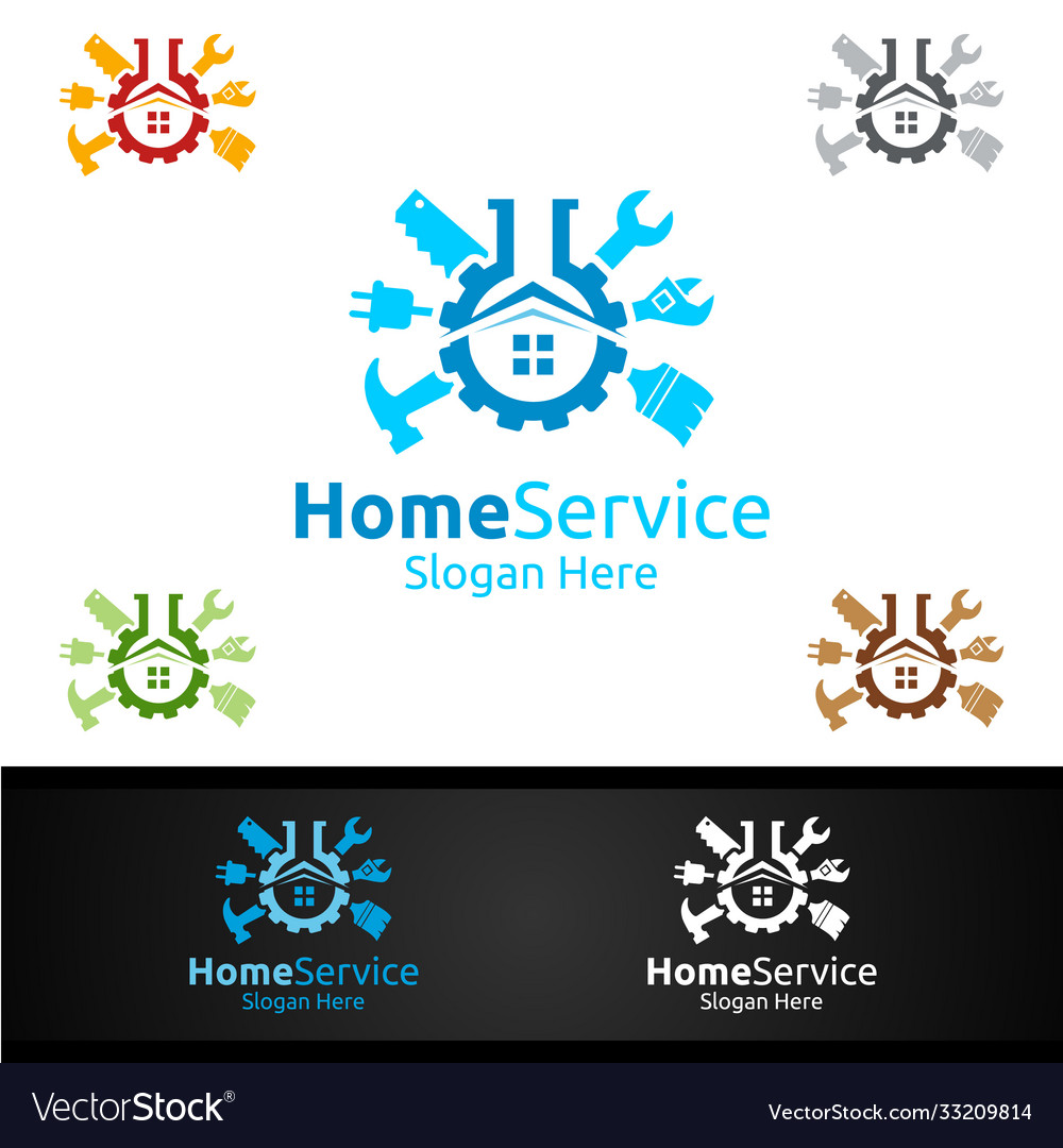 Lab real estate and fix home repair services logo