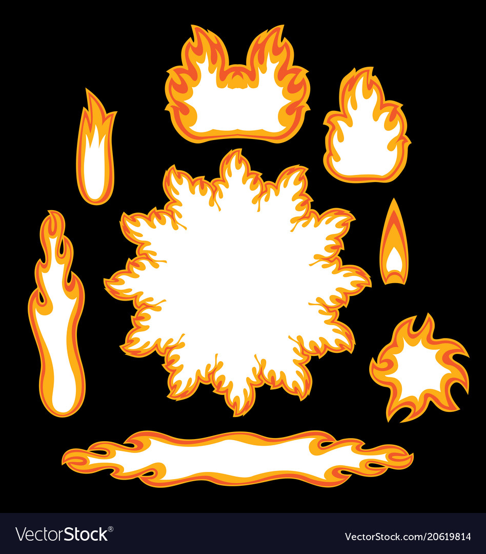 Logo symbols of fire image with place for text