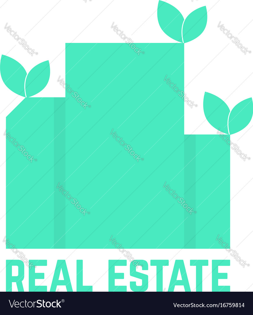 Real estate logo with leafs