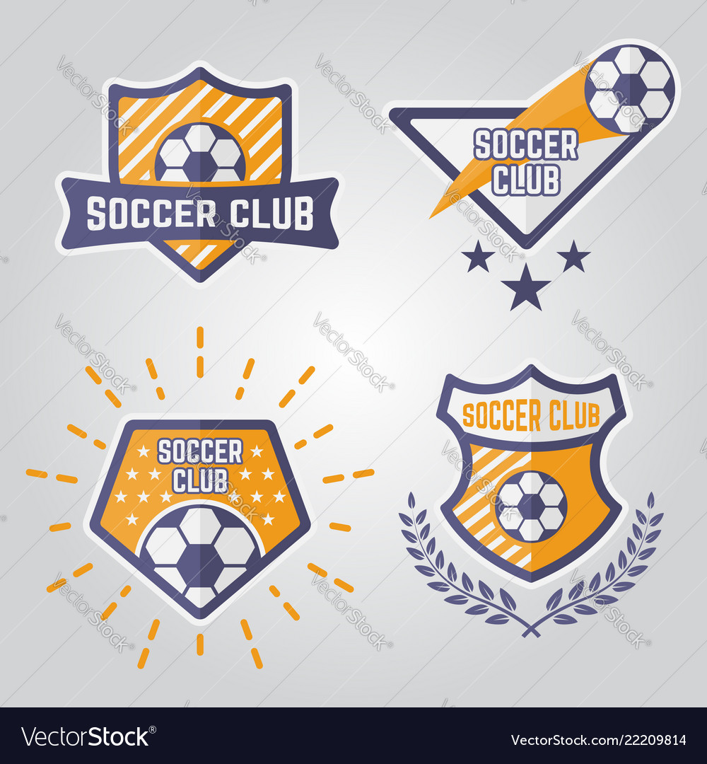 Soccer isolated emblems or logos part 1