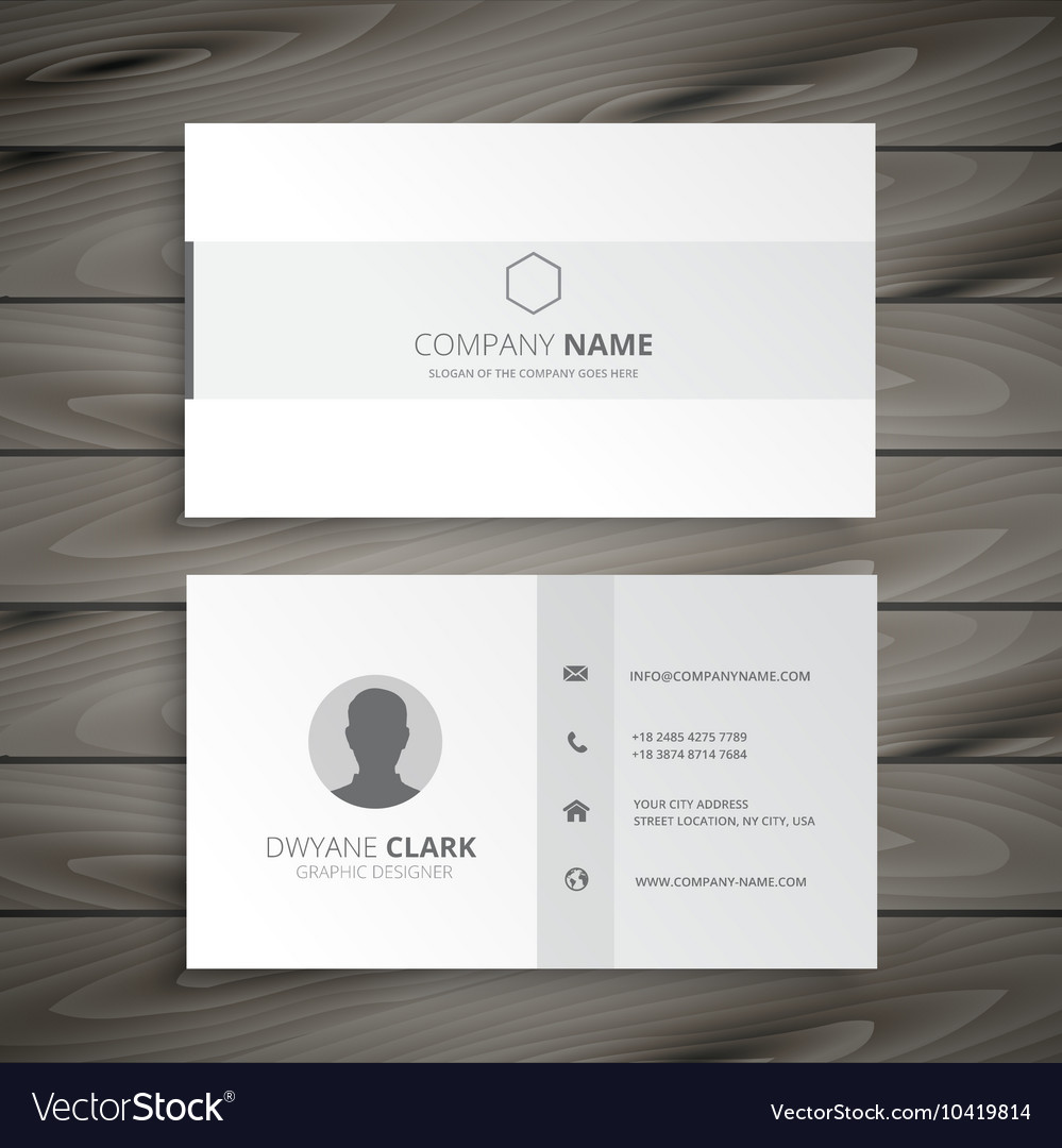 white minimal business card vector image - Minimal Business Card