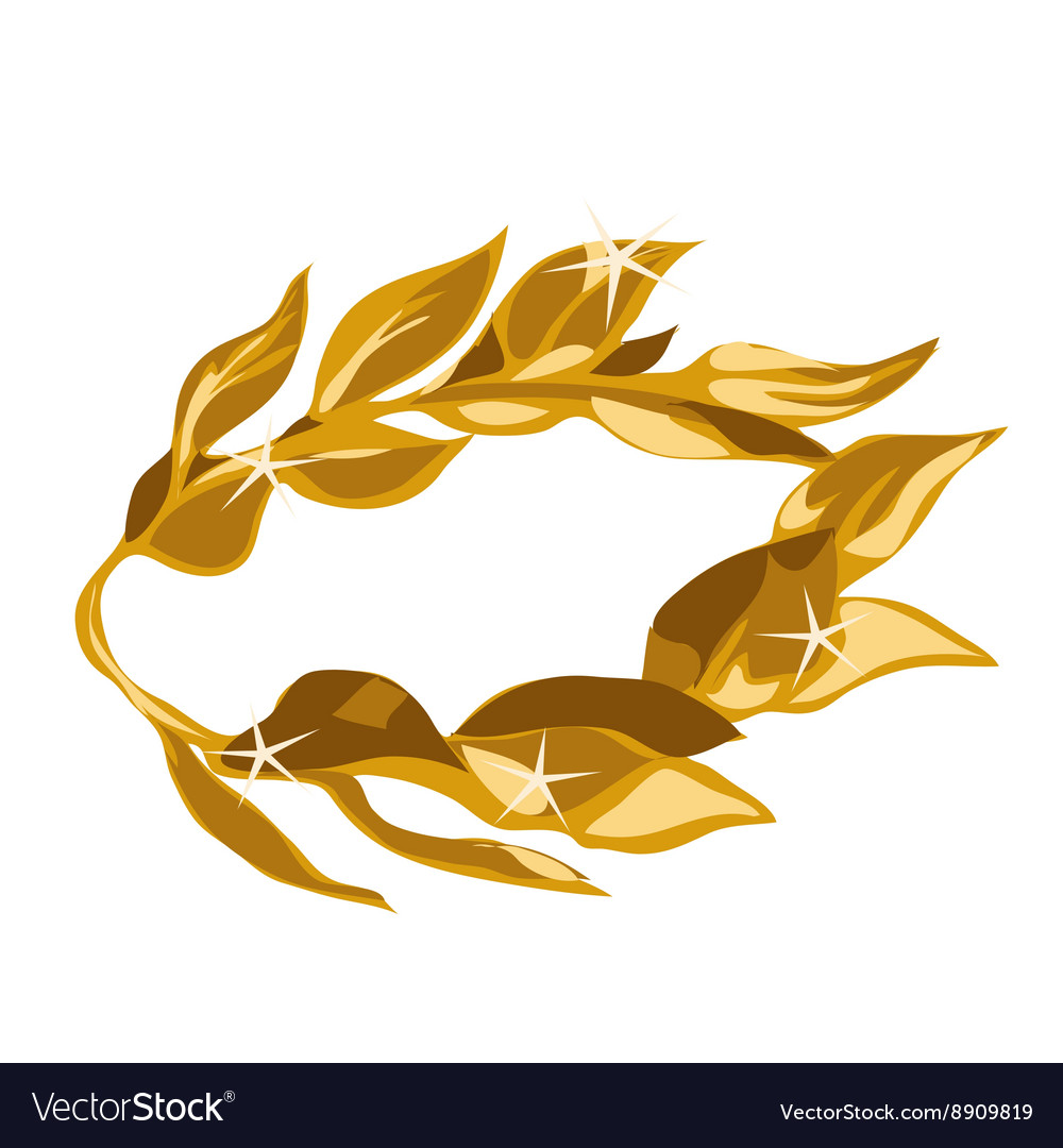 A gold laurel wreath award vector image