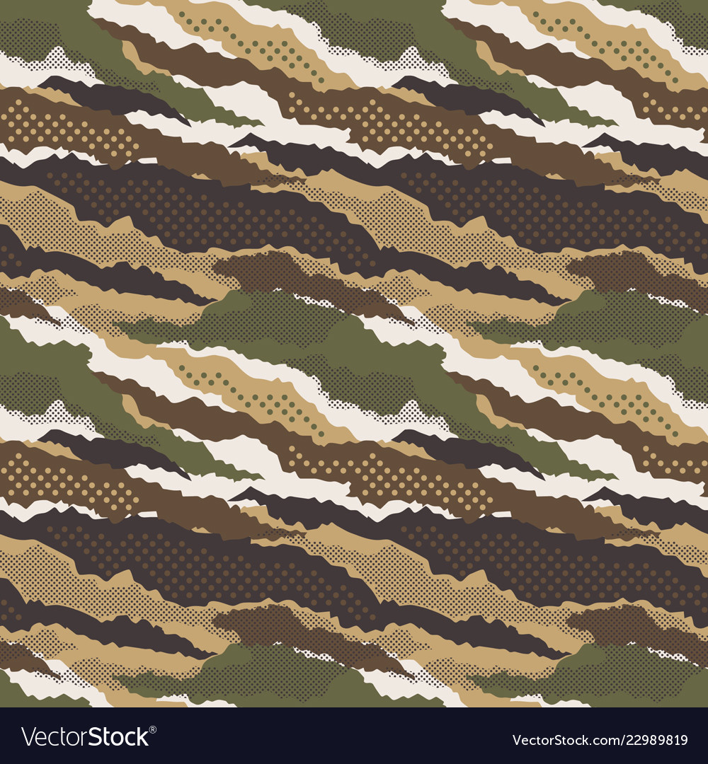 Abstract Mimetic Dotted Camouflage Wallpaper