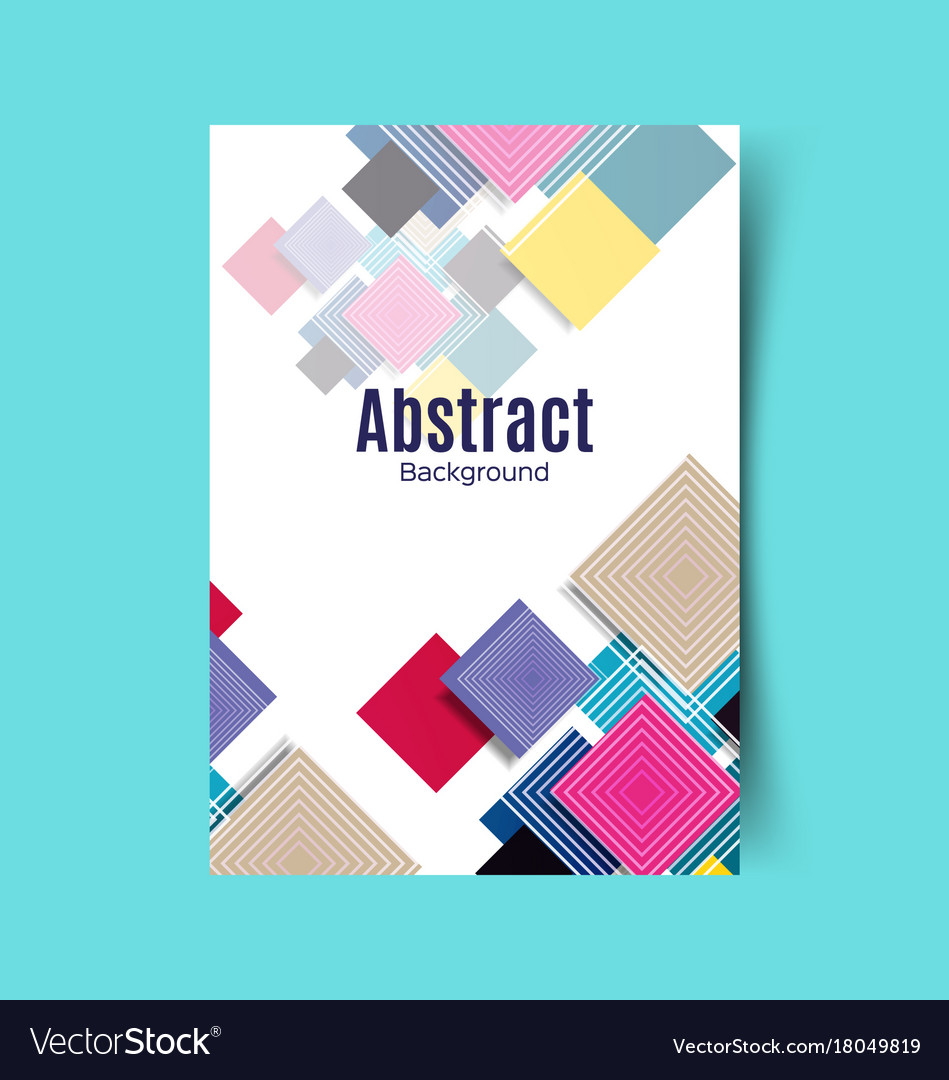 Abstract report cover