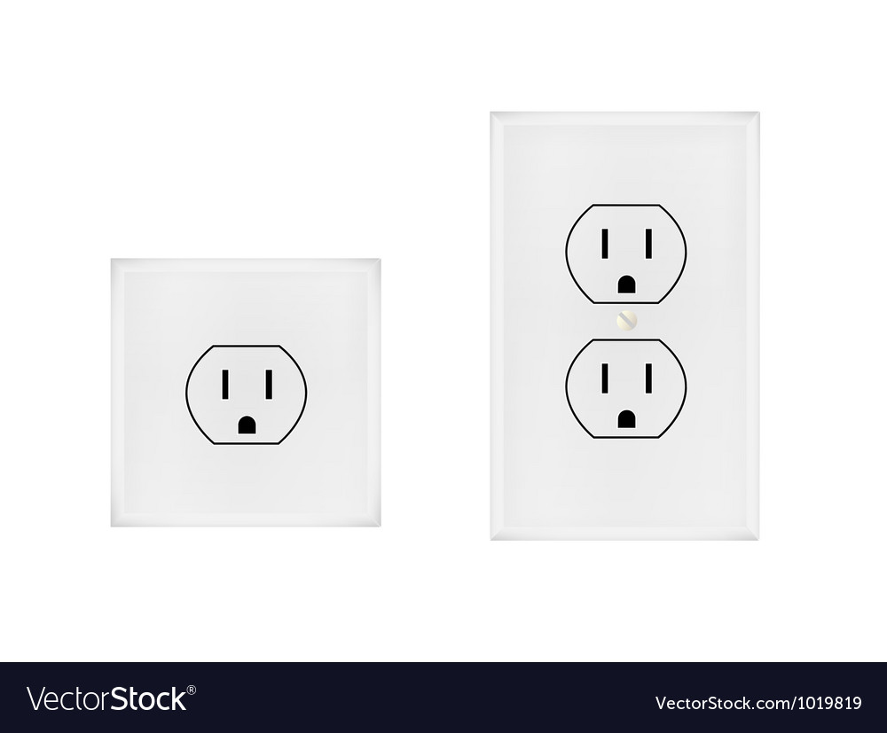 American electrical outlet Royalty Free Vector Image